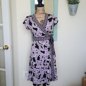 2/$25 Apt 9 Floral Purple dress
